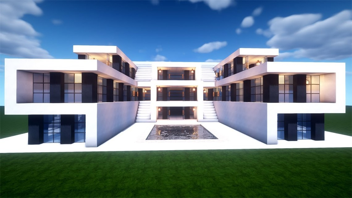 Easy Minecraft: Large Modern House Tutorial - How to Build ...