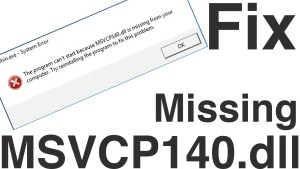 How to fix pubg msvcp140.dll missing file error in PlayerUnknown's Battlegrounds