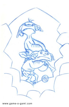 "A sketch from ""Goblins Drool, Fairies Rule!"""