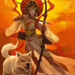 Immortal card game illustration - Amaterasu