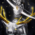Immortal - game of mythic strategy - Artemis card illustration