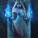 Immortal card game illustration - Hel
