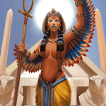 Immortal card game illustration - Isis