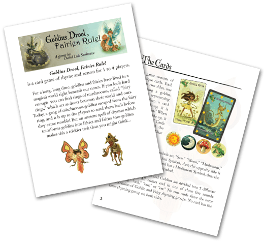 Goblins Drool, Fairies Rule! - rule book preview