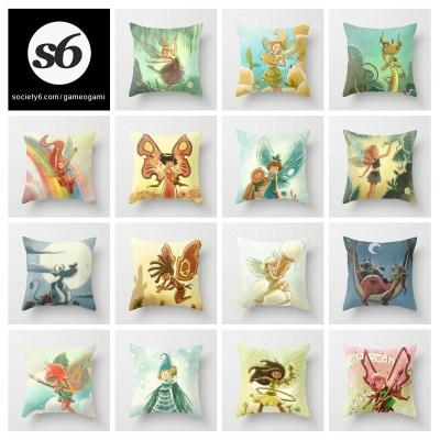 Goblins Drool, Fairies Rule! - throw pillows