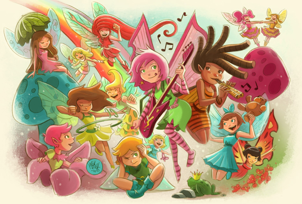 Goblins Drool, Fairies Rule! - Team Fairy - illustration by Mike Maihack