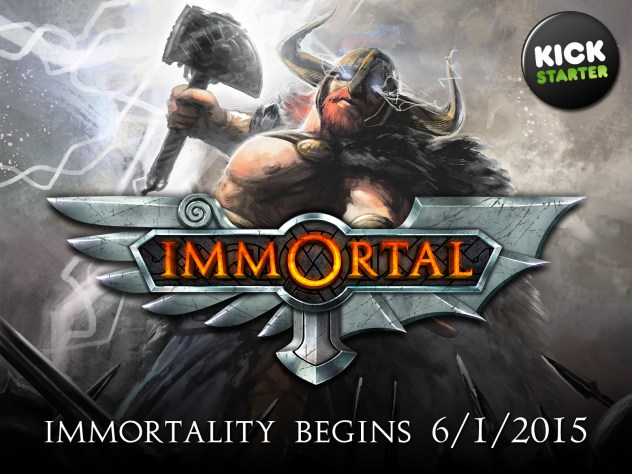 Immortal board game on Kickstarter June 1st