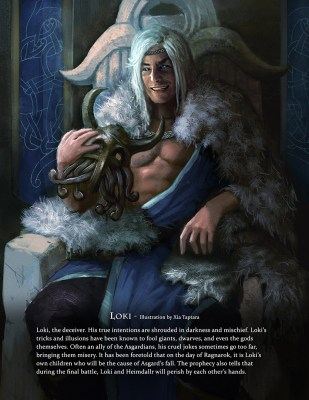 Loki - Immortal art book of myths and legends by Game-O-Gami