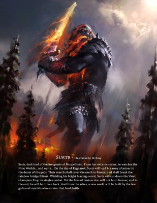 Surtr - Immortal art book of myths and legends by Game-O-Gami