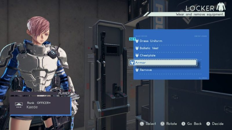 Astral chain Armure de la police Astral (Astral police armor), soluce costume