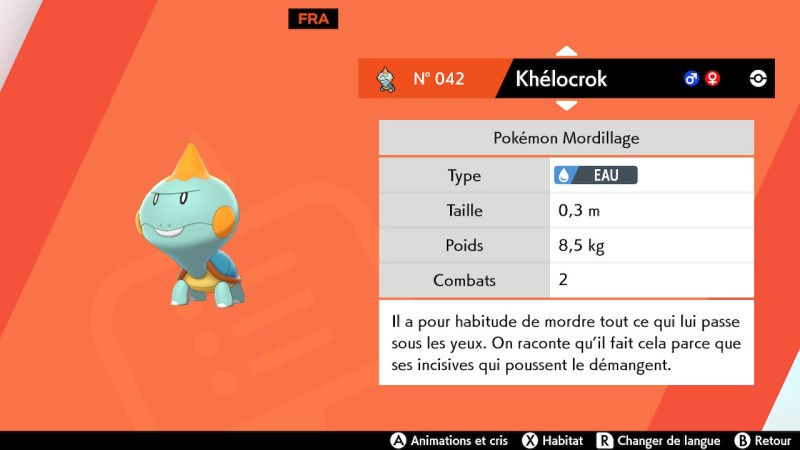 solution cheminement route 2 pokemon epee bouclier, khélocrok emplacement