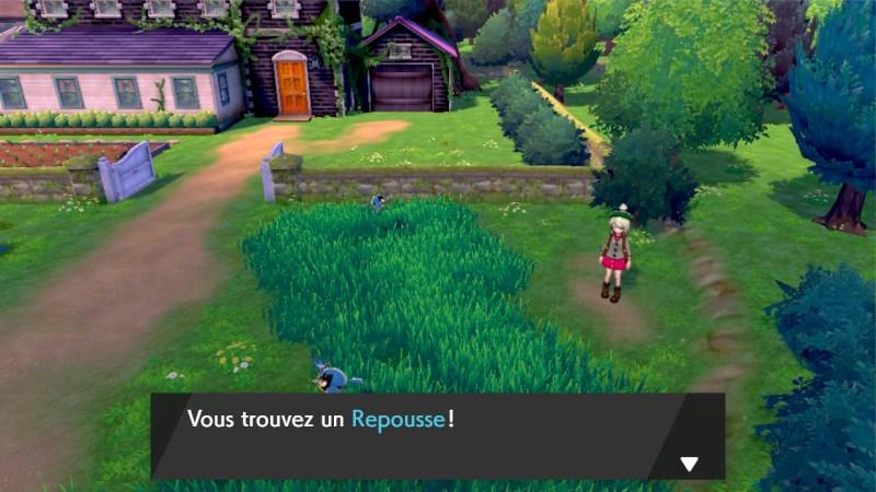 solution cheminement la maison de la professeure carte map pokemon épée bouclier objet repousse