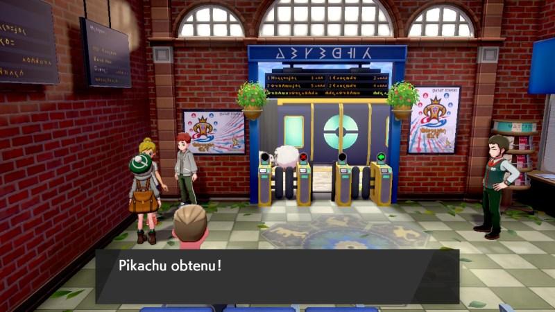 pokémon épée et bouclier comment obtenir Pikachu et évoli sentier de la gare terres sauvages