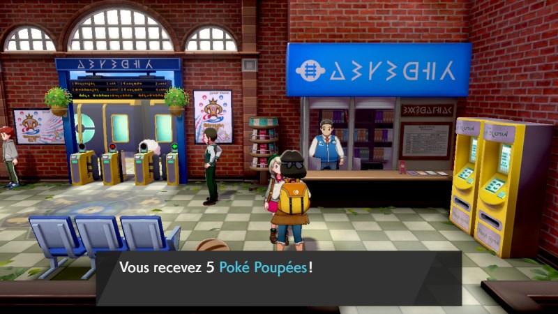 solution pokémon épée et bouclier sentier de la gare poké poupée