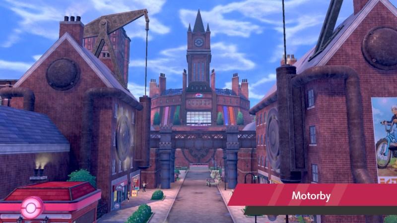 Solution pokemon épée et bouclier ville de motorby emplacement