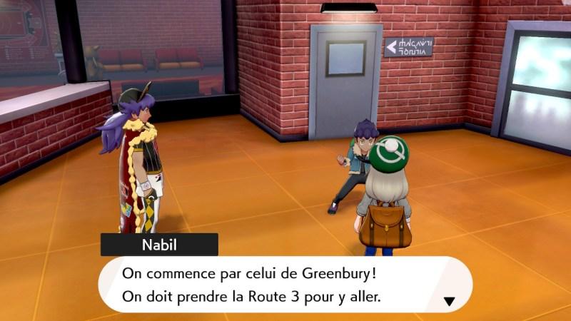 Solution pokemon épée et bouclier ville de motorby emplacement route 3