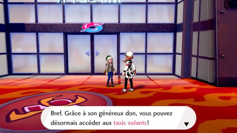 Solution pokemon épée et bouclier ville de motorby emplacement taxi volant