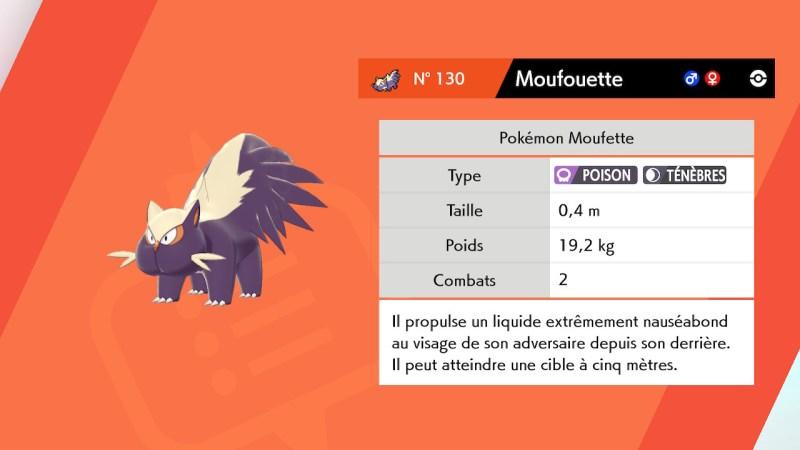 Solution pokémon épée et bouclier route 3 emplacement pokemon moufouette