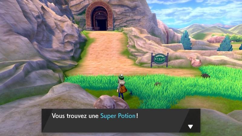 Solution pokémon épée et bouclier route 3 emplacement objet super potion