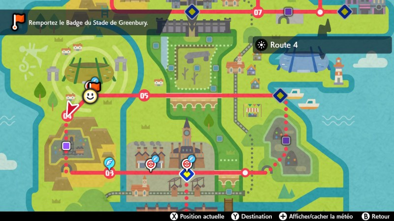 soluce pokemon route 4, map carte emplacement solution