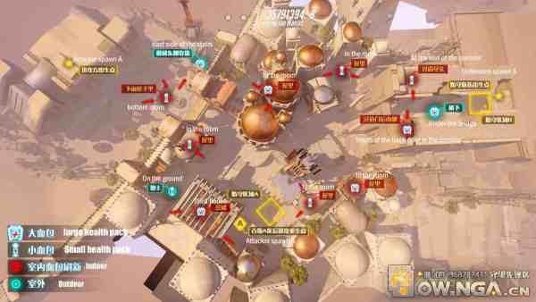 Tempio di Anubi posizione healthpack Overwatch