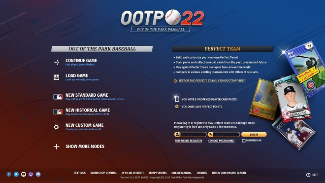 Out of the Park Baseball 22
