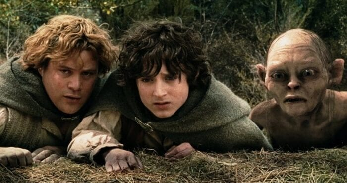 Sam and Frodo in lord of the rings