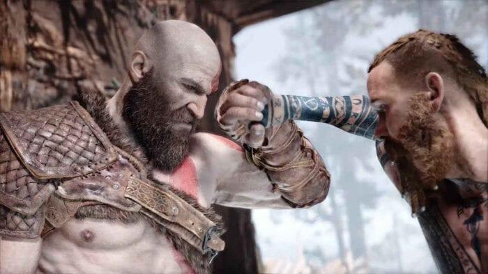 Kratos and Artreus in God of War