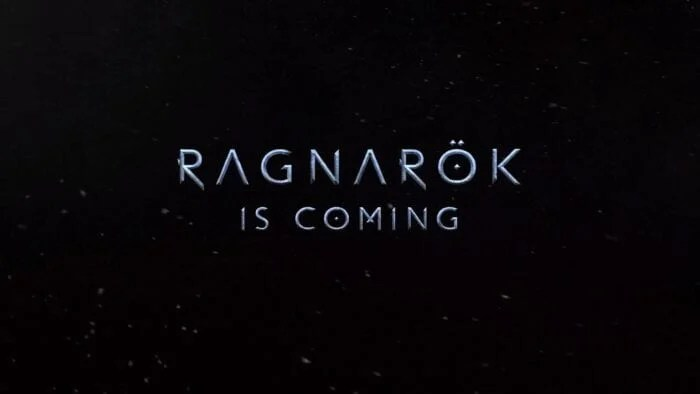 Text reading Ragnarok is Coming
