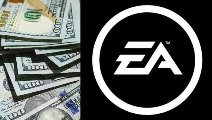 Money next to EA logo