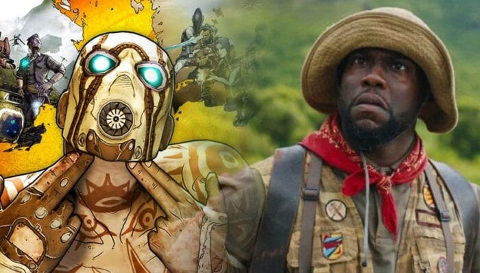 Image from Borderlands next to image of Kevin Hart
