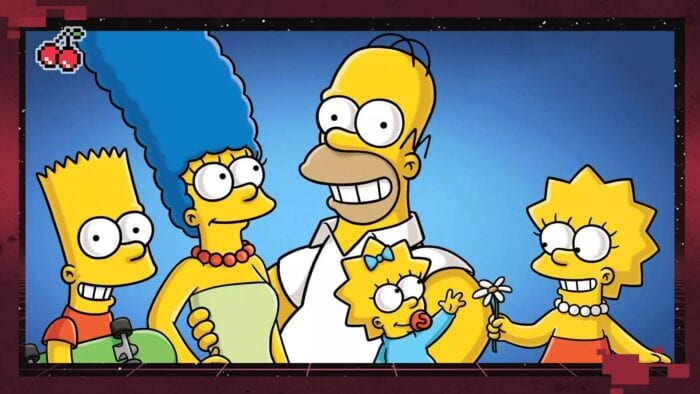 Simpsons family hanging out