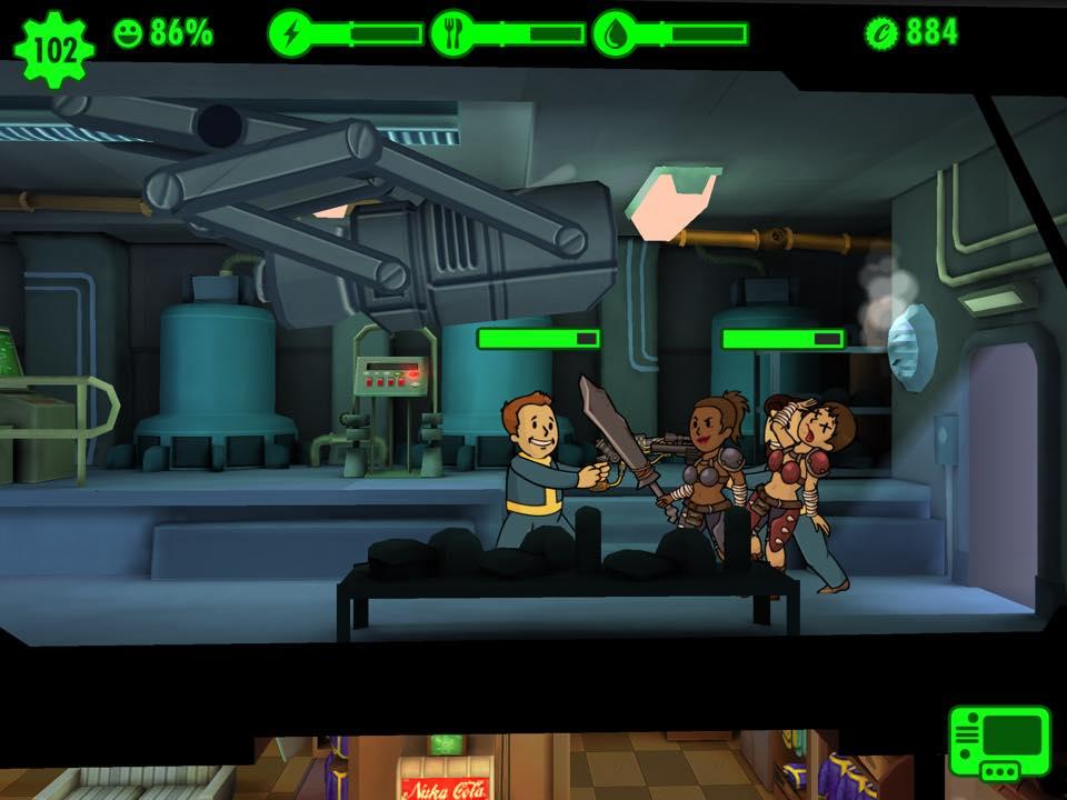 Fallout Shelter guns