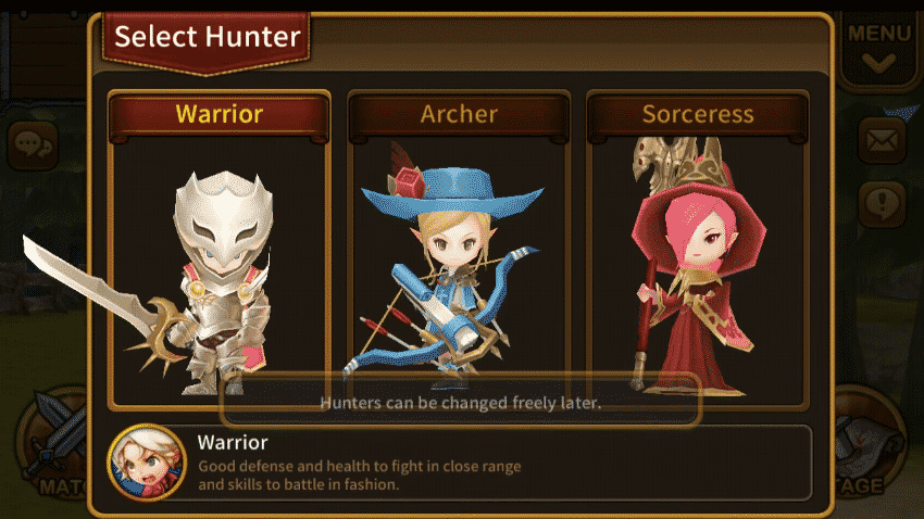 Dungeon Hunter Super Brawl classes