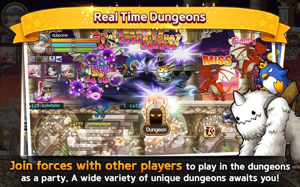 Pocket MapleStory map dungeons