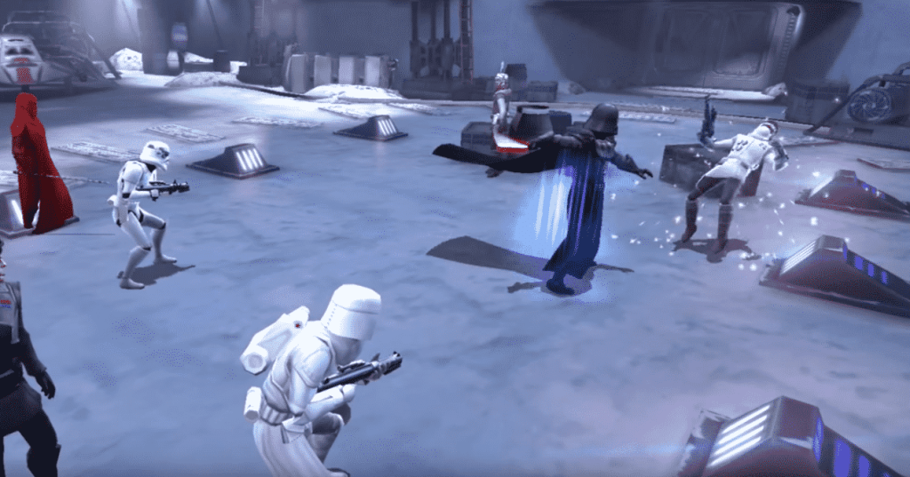 Star Wars Galaxy of Heroes combat