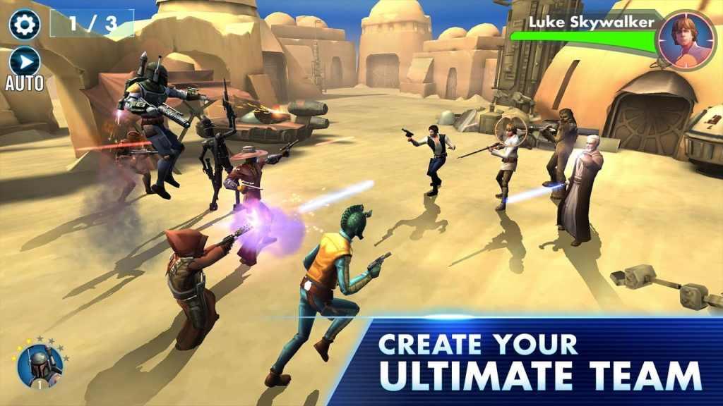 Star Wars Galaxy of Heroes team