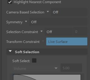 Transform Constraint - Live Surface