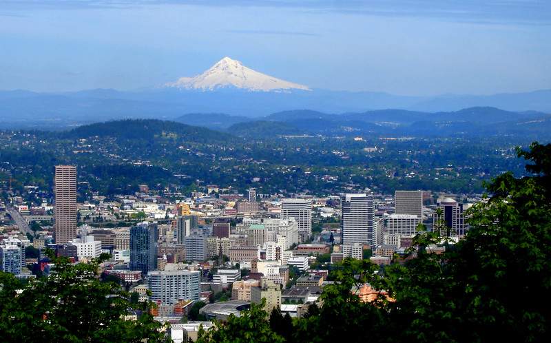Portland skyline via Wikicommons