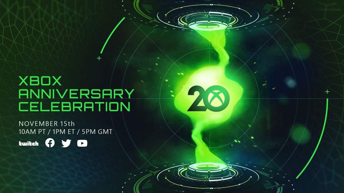 Xbox Announces 20th Anniversary Event