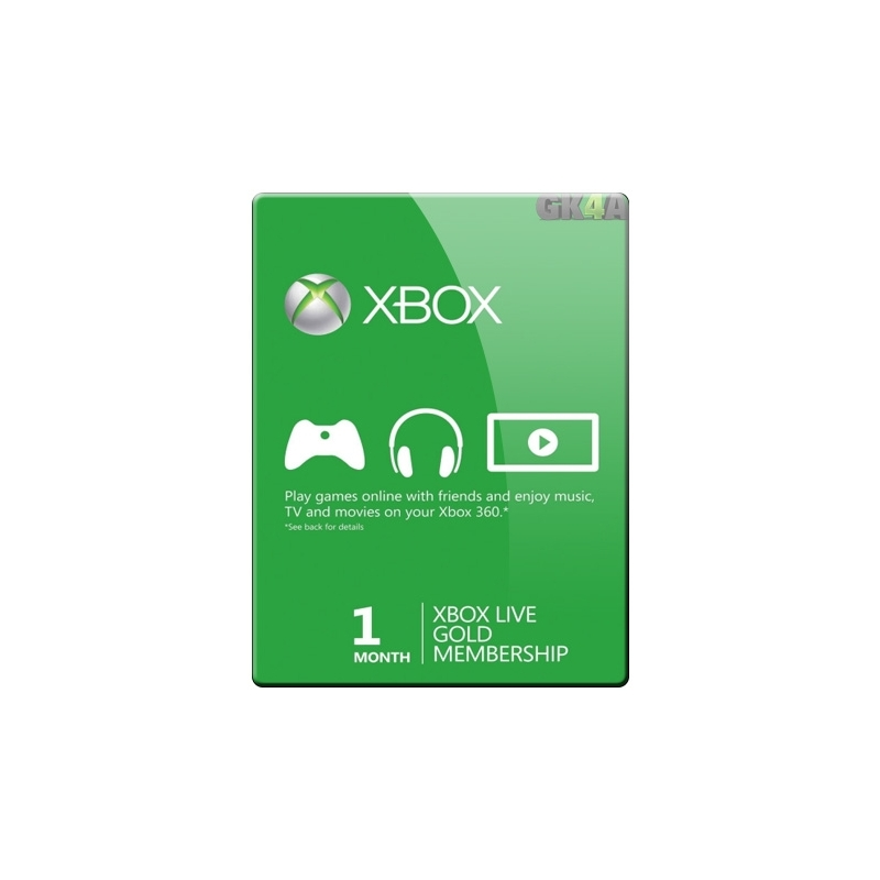 Xbox Live 1 Month Gold Card GameKeys4all Direct To Your Games List