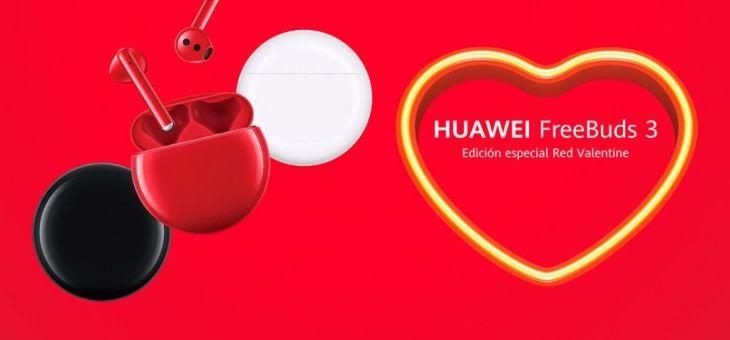 Huawei lanza sus auriculares FreeBuds 3 en color rojo