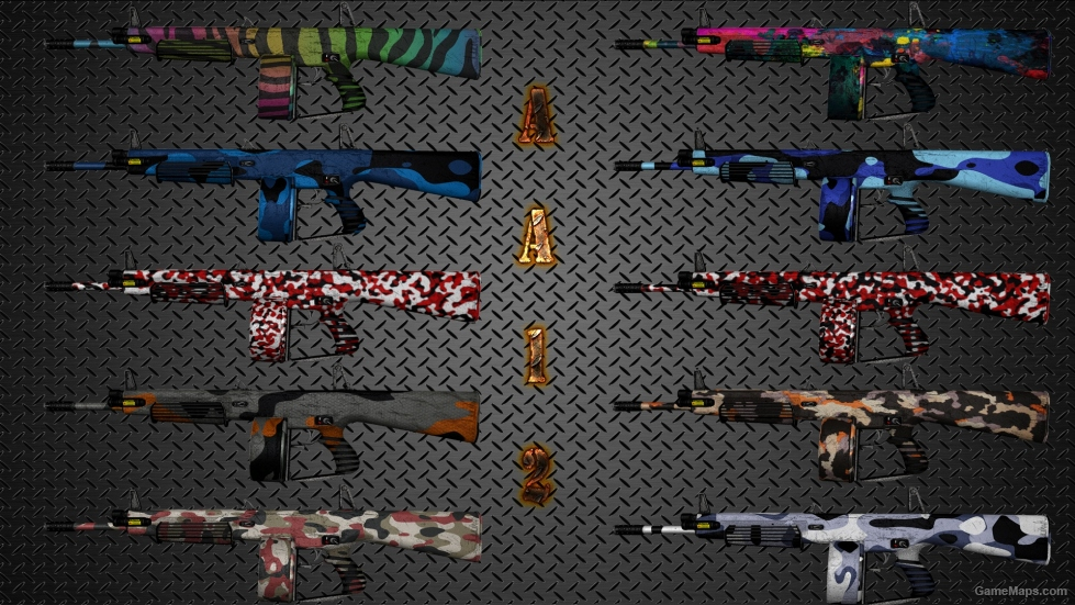 FIXEDColorful Camouflage Weapon Skin Pack Killing Floor