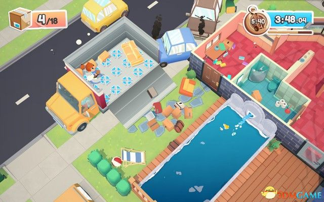 Moving Out 圖文攻略 胡鬧搬家 籃網屋/池邊墊/傑瑞的公寓 圖文攻略