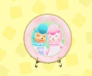 莉詠和健兆的彩繪碟