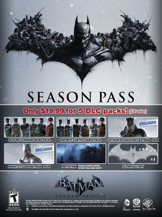 Batman: Arkham Origins Season Pass Announced