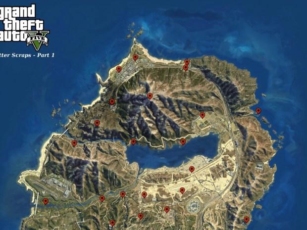 GTA 5 Letter Scraps Locations