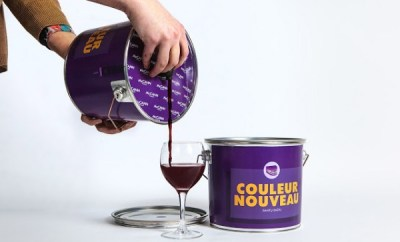 Discreet Boozing: Wine in a Paint Bucket By Hazel Chua   April 8, 2014 @ 7:00 AM Alcohol doesn't make the world go round, although it definitely makes life more colorful. Taking this literally is Lithuania-based ad agency McCann Vilnius, who came up with a design concept that gets rid of typical wine bottles and replaces it with a paint bucket! It's only a concept so we'll probably never see wine sold in these cans unless a winemaker actually decides to go for it. The idea behind the unusual packaging was this: aside from intoxicating, wine can also 'color' and 'paint' the teeth of the drinker. There's even a handy chart on the side instructing how much wine you should drink to go through various shades of purple.