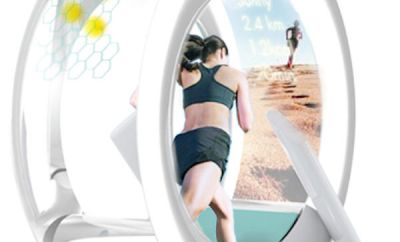 Wheel Shaped Washing Machine, Cleans Your Clothes While You Run In It