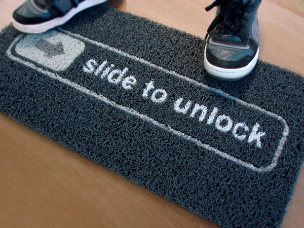 Slide To Unlock Doormat